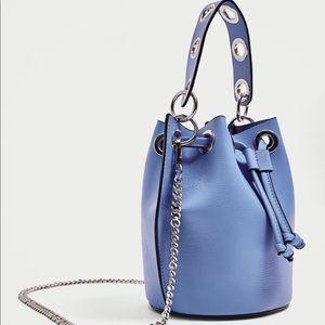 Zara NWT Blue handbag with detachable chain strap